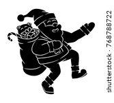 santa claus vector in holiday... | Shutterstock .eps vector #768788722
