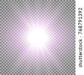 rays of light  special lens... | Shutterstock .eps vector #768791392