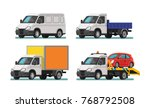 set of delivery cars and tow... | Shutterstock .eps vector #768792508