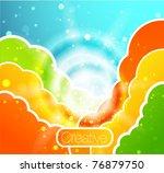 vector cloud background | Shutterstock .eps vector #76879750