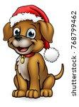 a cute dog cartoon character... | Shutterstock . vector #768799462