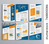 business brochure template... | Shutterstock .eps vector #768800086