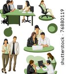 group of business and office... | Shutterstock .eps vector #76880119