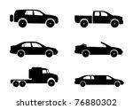 Stock vector car vector silhouettes 76880302