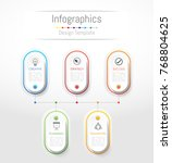 infographic design elements for ... | Shutterstock .eps vector #768804625