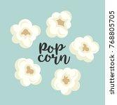 colorful popcorn items cute set.... | Shutterstock . vector #768805705