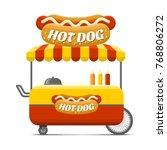 hot dog street food cart.... | Shutterstock . vector #768806272