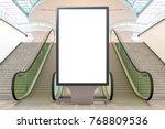 blank advertising billboard... | Shutterstock . vector #768809536