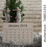 Close Up  Calendar Of January...