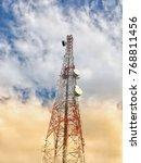 telecommunication tower.... | Shutterstock . vector #768811456