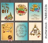 set of posters or flyers for... | Shutterstock .eps vector #768815236