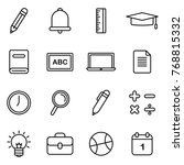 school and education icons...   Shutterstock .eps vector #768815332