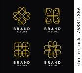 abstract elegant line art logo... | Shutterstock .eps vector #768815386