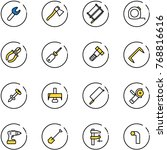 line vector icon set   wrench... | Shutterstock .eps vector #768816616