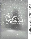 holidays handwritten typography ...   Shutterstock .eps vector #768818416