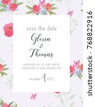 greeting card for the wedding... | Shutterstock .eps vector #768822916