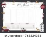 weekly planner template.... | Shutterstock .eps vector #768824386