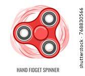moving hand fidget spinner... | Shutterstock . vector #768830566