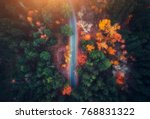 aerial view of road in... | Shutterstock . vector #768831322
