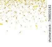 christmas golden confetti.... | Shutterstock .eps vector #768833182