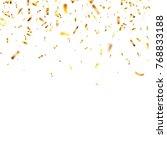 christmas golden confetti.... | Shutterstock .eps vector #768833188