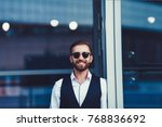 stylish smile. cheerful young... | Shutterstock . vector #768836692