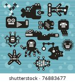 robots and monsters collection  ...