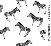 sketch seamless pattern with... | Shutterstock .eps vector #768837982