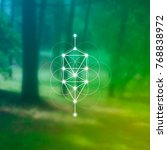 tree of life sacred geometry... | Shutterstock .eps vector #768838972