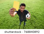 high angle view of confident... | Shutterstock . vector #768840892