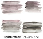 set of watercolor stains. spots ... | Shutterstock . vector #768843772