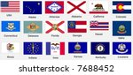 united states of america states ... | Shutterstock .eps vector #7688452