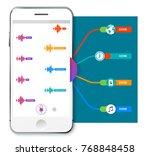 speech recognition infographics ... | Shutterstock .eps vector #768848458