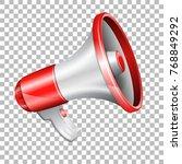 realistic megaphone on... | Shutterstock .eps vector #768849292