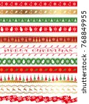 a set of assorted seamless... | Shutterstock .eps vector #768849955