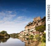 chateau de beynac  beynac et... | Shutterstock . vector #768850432