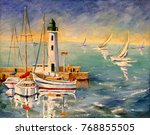 Seascape With Boats And...