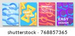 abstract colorful covers set.... | Shutterstock .eps vector #768857365