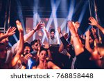 female dj playing music at a... | Shutterstock . vector #768858448