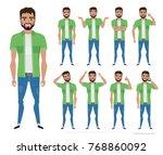 character men hipster. a... | Shutterstock .eps vector #768860092