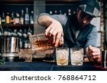 old fashioned cocktail  ... | Shutterstock . vector #768864712