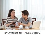 cheerful pretty woman and her...   Shutterstock . vector #768864892