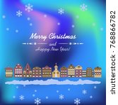 christmas holiday card with... | Shutterstock .eps vector #768866782