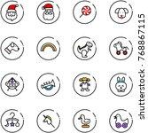Line Vector Icon Set   Santa...