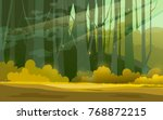 sunny forest background. ... | Shutterstock . vector #768872215