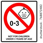 prohibition sign for children... | Shutterstock . vector #768872482