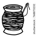 bobbin and needle   cartoon...   Shutterstock .eps vector #768873232