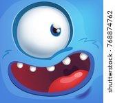 cartoon monster face | Shutterstock .eps vector #768874762