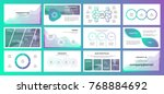 presentation with gradient... | Shutterstock .eps vector #768884692