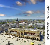 View Of The Old Town Of Cracow...